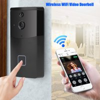 Yosoo Night Vision Doorbell,Wireless WiFi Doorbell Video Camera Phone Ring Intercom Night Vision Home Build Security WiFi Doorbell
