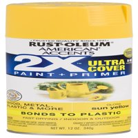 (3 Pack) Rust-Oleum American Accents Ultra Cover 2X Gloss Sun Yellow Spray Paint and Primer in 1, 12 oz