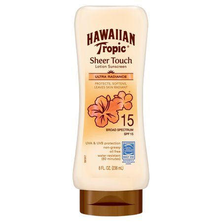 Hawaiian Tropic Sheer Touch Ultra Radiance Lotion Sunscreen SPF 15, 8 Oz
