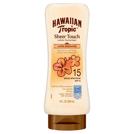 Spf 15 Sunscreen Moisture Cream - Hawaiian Tropic Sheer Touch Ultra Radiance Lotion Sunscreen SPF 15, 8 Oz