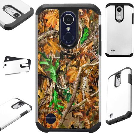 Leaf Phone Cover - For LG Xpression Plus (2018) Case Hybrid TPU Fusion Phone Cover (Leaves Camouflage)