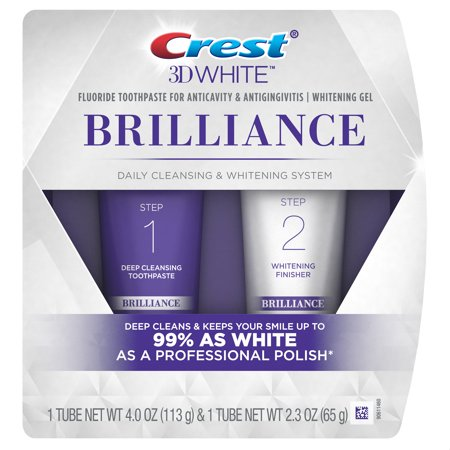 Crest 3D White Brilliance Daily Cleansing Toothpaste and Whitening Gel System (Choose (Crest 3d White Whitening Therapy Sensitivity Care Toothpaste)