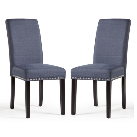 - DHI Nice Nail Head Upholstered Dining Chair, 2 Pack, Multiple Colors