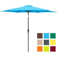 Best Choice Products 10ft Steel Market Outdoor Patio Umbrella w/ Crank, Tilt Push Button