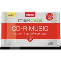 Maxell MaxData CD-R Music 80min Recordable Discs (50 Disc Spindle)