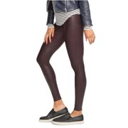 2b2ef454c5fdb4 Spanx Ready-To-Wow Faux-Leather Ankle Legging Slimming Wine 2437 S Womens