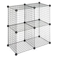 Whitmor Storage Cubes Black Set of 4