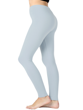 Women Premium Cotton High Waist Full Length Leggings