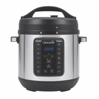 Crock-Pot 8 Qt 8-in-1 Multi-Use Express Crock Programmable Slow Cooker, Pressure Cooker, Saut, and Steamer, Stainless Steel