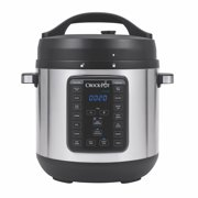 Crock-Pot 8 Qt 8-in-1 Multi-Use Express Crock Programmable Slow Cooker, Pressure Cooker, Sauté, and Steamer, Stainless Steel