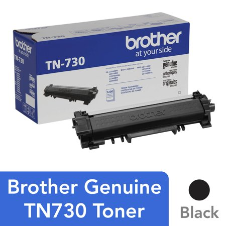 - Brother Genuine Cartridge TN730 Standard Yield Toner, Mono-Laser/Black - 1,200 pages