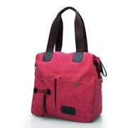 4c8423732f56 Women Men Canvas Shoulder Messenger School Crossbody Handbag Zip Tote Purse  Bag