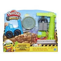 Play-Doh Wheels Crane & Forklift Set with 3 Cans of Dough
