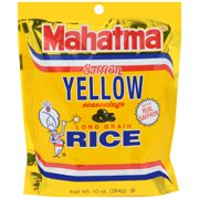 Mahatma Mixes Saffron Yellow Seasonings and Long Grain Rice, 10-Ounce Bag