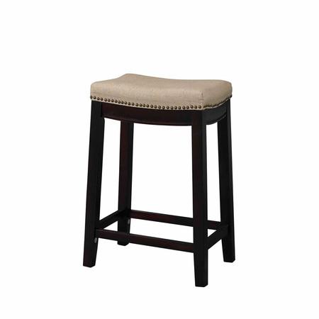 Linon Counter Stool (Linon Hampton Fabric Top Counter Stool, Beige, 24 inch Seat Height)