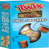 TWIX Shell Smashers Easter Chocolate Candy, 4.67-Ounce Box