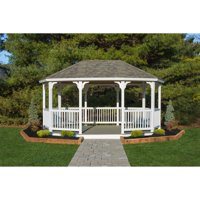 YardCraft 12 ft. x 18 ft. Vinyl Oval Gazebo - no floor