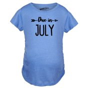 691ca87bfcbc6 Maternity Due In July Funny T shirts Pregnant Shirts Announce Pregnancy  Month Shirt