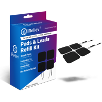 Electrode Pads & Leads Refill Kit for TENS Unit or EMS Muscle Stimulator from iReliev