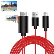 MHL Cable, EEEKit 6 Feet 2 in 1 Full HD 1080P MHL Micro USB to