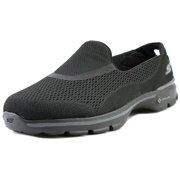 7b4fe28a326 Skechers Go Walk 3-Strike Women Round Toe Canvas Walking Shoe