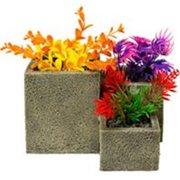 Square Flower Pot Garden, Stone - Small