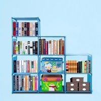 Home Furniture Adjustable Bookcase Fashion Korean Storage Bookshelf with 9 Book Shelves HITC
