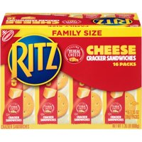 (2 Pack) Ritz Cheese Cracker Sandwiches Family Size, 1.4 Lb