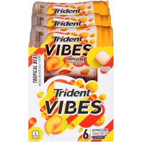 Trident Vibes, Sugar Free Tropical Beat Chewing Gum, 40 Pcs, 6 Ct