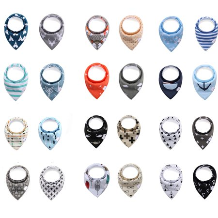 4Pack/Set Baby Bandana Drool Bibs - Bandana Bibs for Boys, Girls - Bandanas For Sale