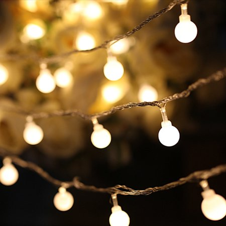 Led String Lights Warm White Ball Fairy Lights Waterproof
