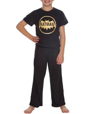 Batman Boys' Short Sleeve Vintage 2 Piece Pajama Sleep Set