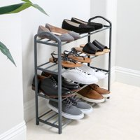Mainstays 4 Tier Shoe Rack - Steel