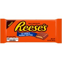(2 Pack) Reese's, Giant Peanut Butter Chocolate Candy Bar, 6.8 Oz