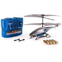 Air Hogs, Axis 300x RC Helicopter With Batteries - Silver & Blue