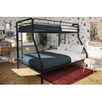 DHP Twin Over Full Metal Bunk Bed Frame, Multiple Colors