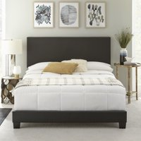 Premier Sutton Upholstered Faux Leather Panel Bed, Multiple Sizes