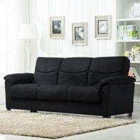 Roundhill Furniture Urban Fabric Storage Sofa Bed, Black