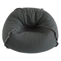 Large Canvas Bean Bag Chair with Exposed Seams, Multiple Colors