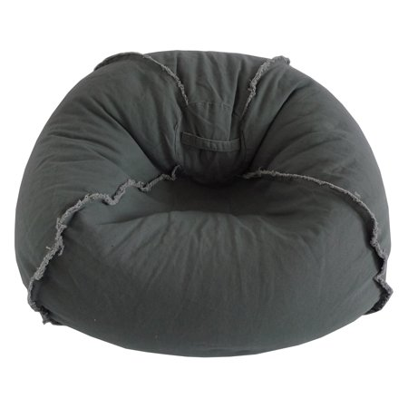 Large Canvas Bean Bag Chair with Exposed Seams, Multiple Colors - Bean Bags Target