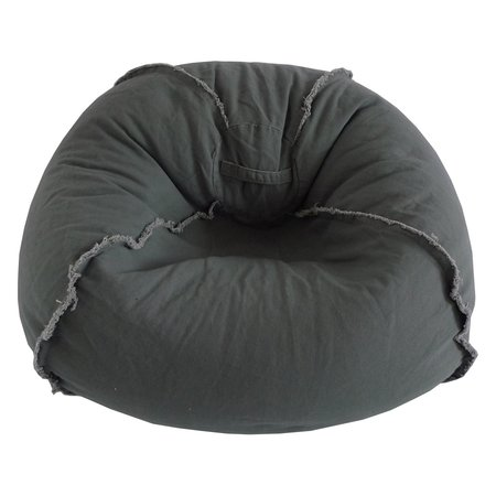 Teen Bean Bag Chair - Large Canvas Bean Bag Chair with Exposed Seams, Multiple Colors