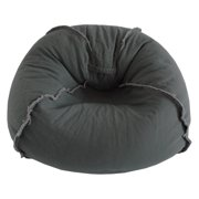 b703ea4f2f Large Canvas Bean Bag Chair with Exposed Seams