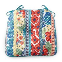 The Pioneer Woman Dazzling Dahlias Quilted Chair Pad