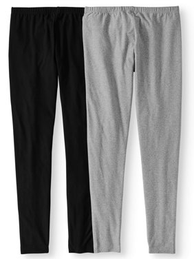 Juniors' Print & Solid Sueded Jersey Leggings 2pk Value Bundle