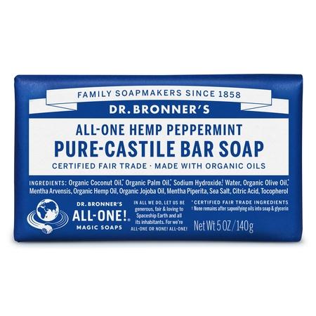 (2 pack) Dr. Bronner's Peppermint Bar Soap
