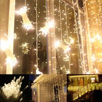 100 LED Twinkle Fairy Light String 33 Feet 8 Modes White/Warm White & Tail Plug Holiday Decoration