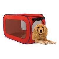 SportPet Pop-Open Kennel, Travel Dog Crate , Medium ( For Kennel Trained Pet Only )