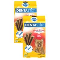 (2 Pack) PEDIGREE DENTASTIX Toy/Small Dental Dog Treats Beef Flavor, 6 oz. Pack (24 Treats)