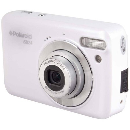 Polaroid White iS824 Digital Camera with 16 Megapixels and 8x Optical - 60 Fuji Digital Cameras