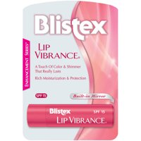 (2 pack) Blistex Lip Vibrance Lip Care Balm, SPF 15 Protection, For Chapped Lips, 1 stick, 0.13 oz